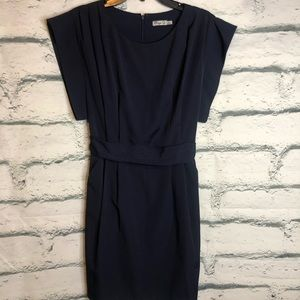 Eliza J Drape Sleeve Navy Blue Dress size 4